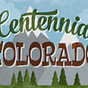 Centennial Colorado Snowy Mountains	 Art Print