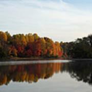 Centennial Lake Autumn - Fall Dressing Art Print