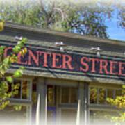 Center Street Cafe Sign Art Print