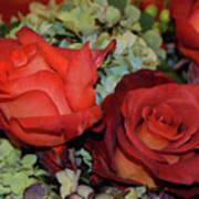 Centerpiece Roses Art Print
