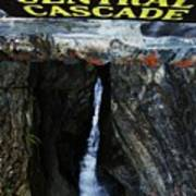 Central Cascade Bridge View Art Print