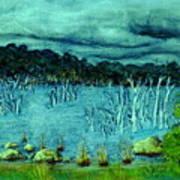 Central Highland's Lake. Art Print