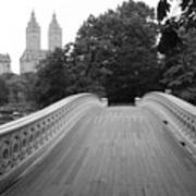 Central Park Bow Bridge With The San Remo Art Print by Christopher Kirby