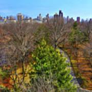 Central Park East Skyline Art Print