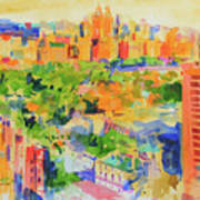 Central Park From The Carlyle Art Print
