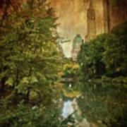 Central Park In Autumn Texture 4 Art Print