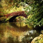 Central Park In Autumn Texture 6 Art Print