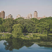 Central Park In Summer Art Print