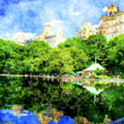 Central Park Art Print by Julie Lueders