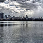 Central Park Resevoir Panorama Art Print