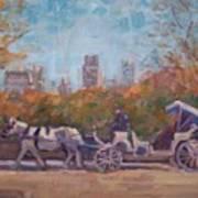 Central Park Tourists Art Print