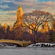 Central Parks Famous Bow Bridge Art Print