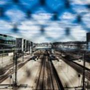 Central Train Station In Oslo Art Print