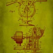 Centrifugal Gun Patent Drawing 3j Art Print