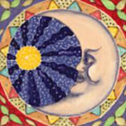 Ceramic Moon Art Print by Anna Skaradzinska