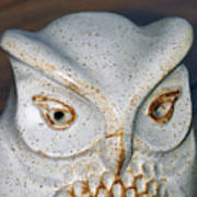 Ceramic Owl. Art Print
