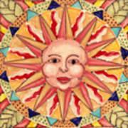 Ceramic Sun Art Print by Anna Skaradzinska