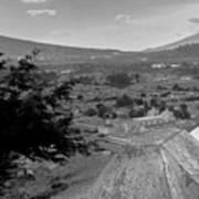 Cerro De La Cruz Bnw I Art Print