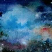 Cerulean Space Clouds Art Print
