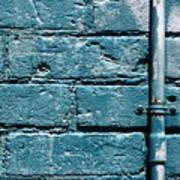 cerulean wall II Art Print