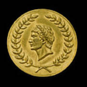 Julius Cesar Roman Coin Art Print