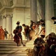 Cesare Borgia Leaving The Vatican Art Print by Giuseppe Lorenzo Gatteri