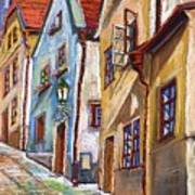 Cesky Krumlov Old Street 2 Art Print by Yuriy  Shevchuk