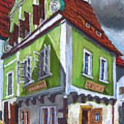 Cesky Krumlov Old Street 3 Art Print