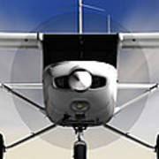 Cessna 152 Flying High Art Print