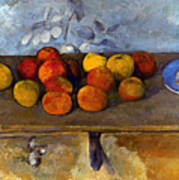 Cezanne: Apples & Biscuits Art Print