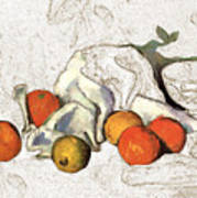 Cezanne Oranges Digital Art Art Print