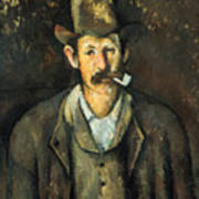 Cezanne: Pipe Smoker, C1892 Art Print