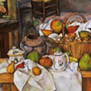 Cezanne: Table, 1888-90 Art Print