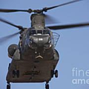 Ch-47 Chinook Flies Over Playas Art Print