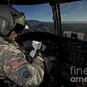 Ch-47 Chinook Pilot Refers Art Print