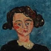 Chaim Soutine 1893 - 1943 Portrait De Jeune Fille Paulette Jourdain Art Print