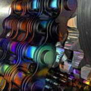 Chain And Sprockets - Amcg -  Macro 14 30 X 20 Art Print