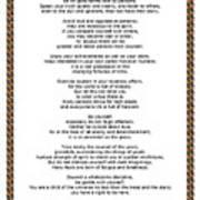 Chain Link Desiderata Poem Art Print