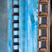 Chains And Blue Wood Art Print