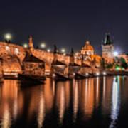 Chains Bridge In Prague Art Print