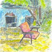 Chair, 27 September, 2015 Art Print