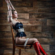 Chair Bondage - Fine Art Of Bondage Art Print