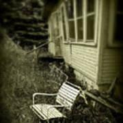 Chair In Grass Art Print