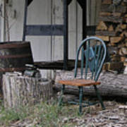 Chair In The Shed Art Print