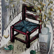 Chair X Art Print by Peter Allan