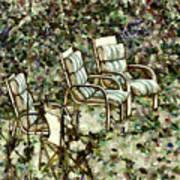 Chairs In Backyard Art Print