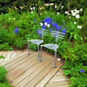 Chairs In The Garden Art Print
