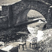 Chairs - Stone Bridge Art Print