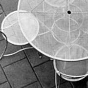 Chairs With Table Art Print