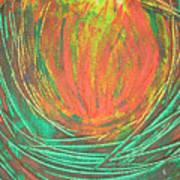 Chakra Protea Art Print